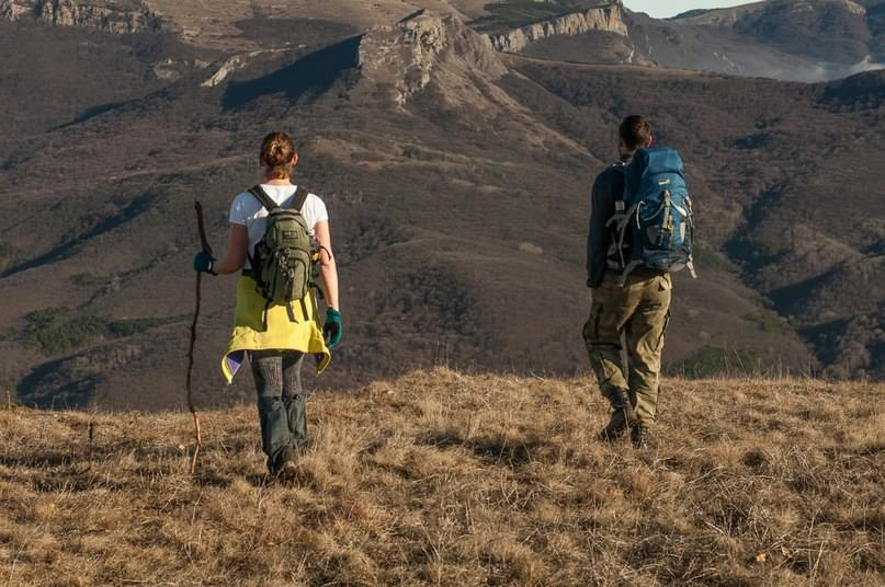 hiking in the Crimea - Plateau Chater